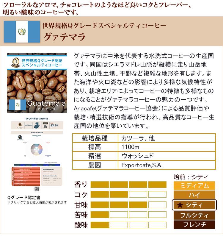 グァテマラ世界規格Qグレード珈琲豆