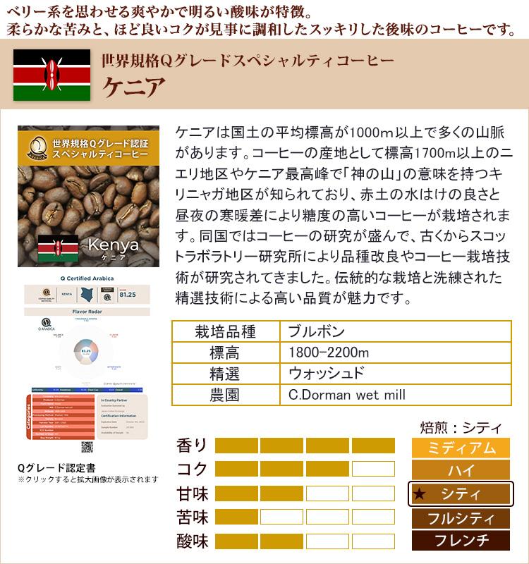 ケニア世界規格Qグレード珈琲豆